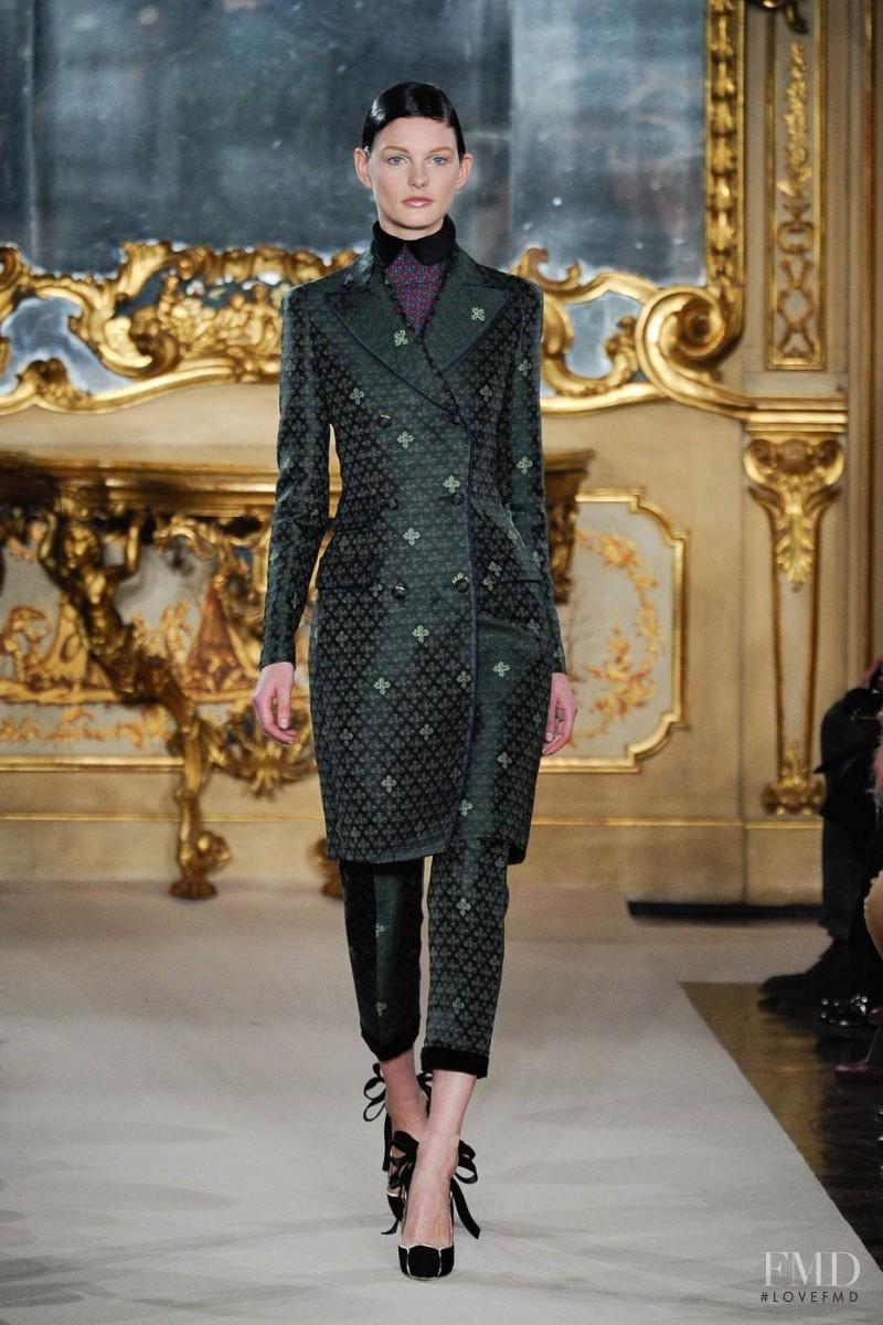 Patricia van der Vliet featured in  the Aquilano.Rimondi fashion show for Autumn/Winter 2012