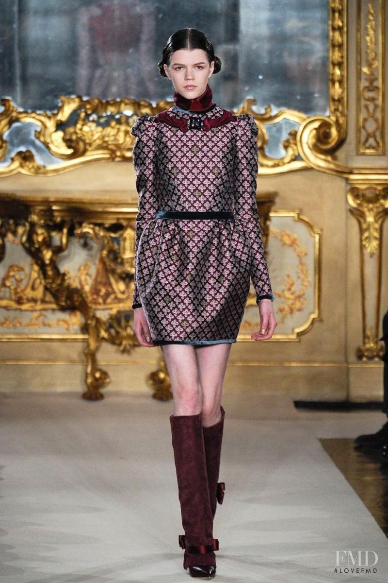 Antonia Wesseloh featured in  the Aquilano.Rimondi fashion show for Autumn/Winter 2012