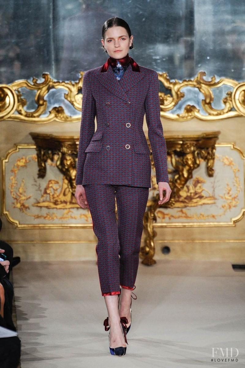 Magdalena Langrova featured in  the Aquilano.Rimondi fashion show for Autumn/Winter 2012