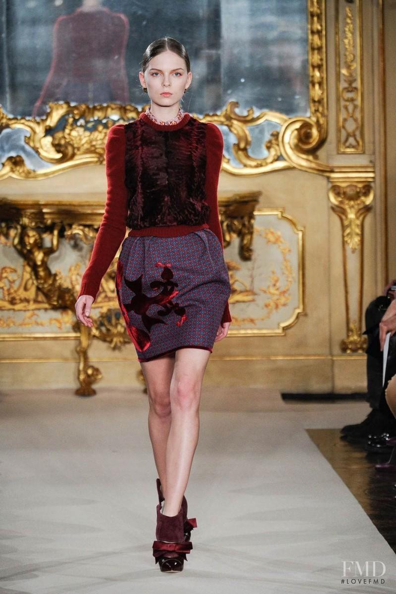 Kate Kosushkina featured in  the Aquilano.Rimondi fashion show for Autumn/Winter 2012
