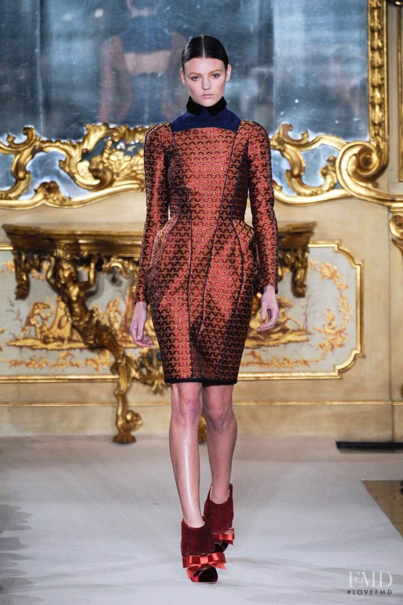 Montana Cox featured in  the Aquilano.Rimondi fashion show for Autumn/Winter 2012