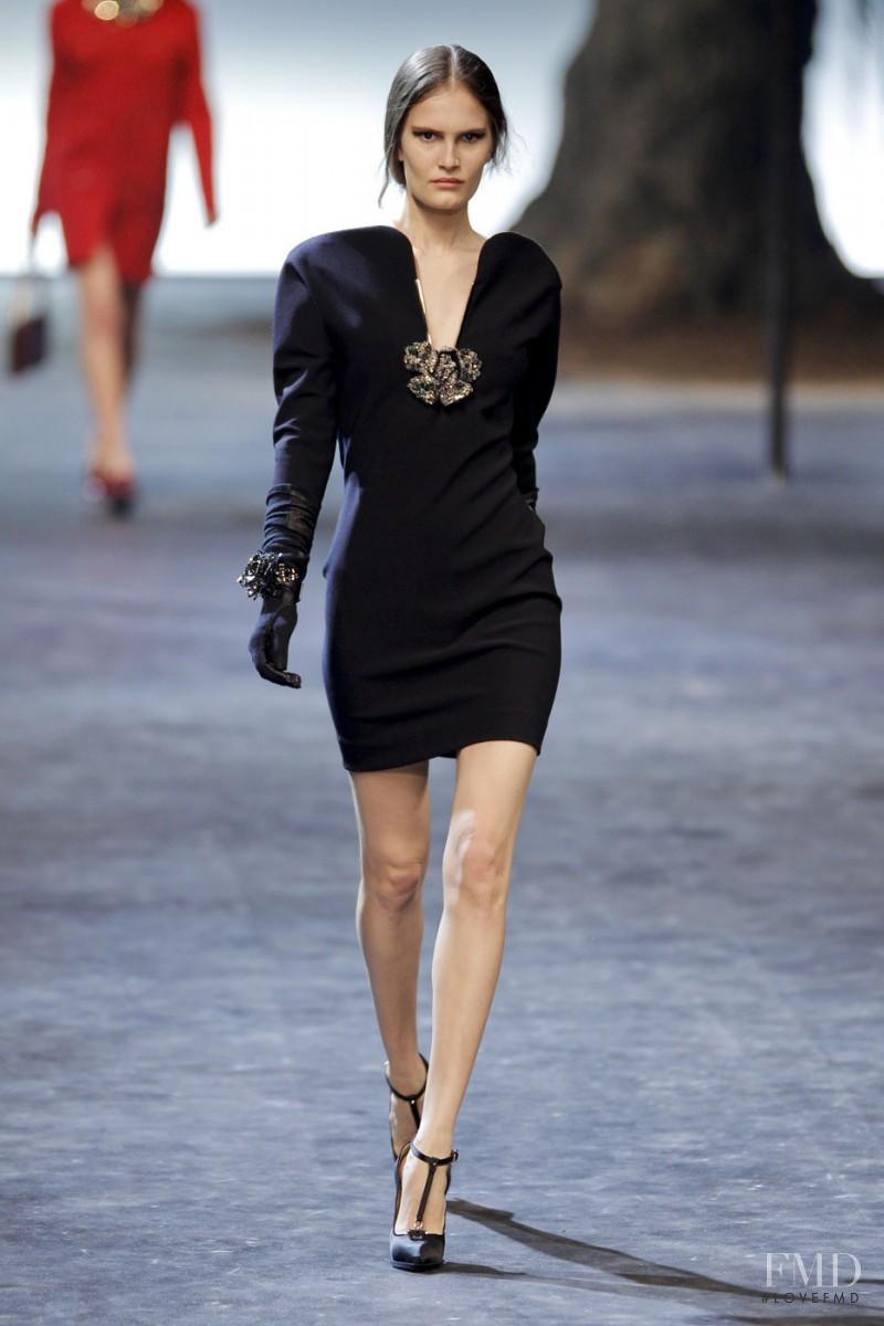 Alla Kostromicheva featured in  the Lanvin fashion show for Autumn/Winter 2011