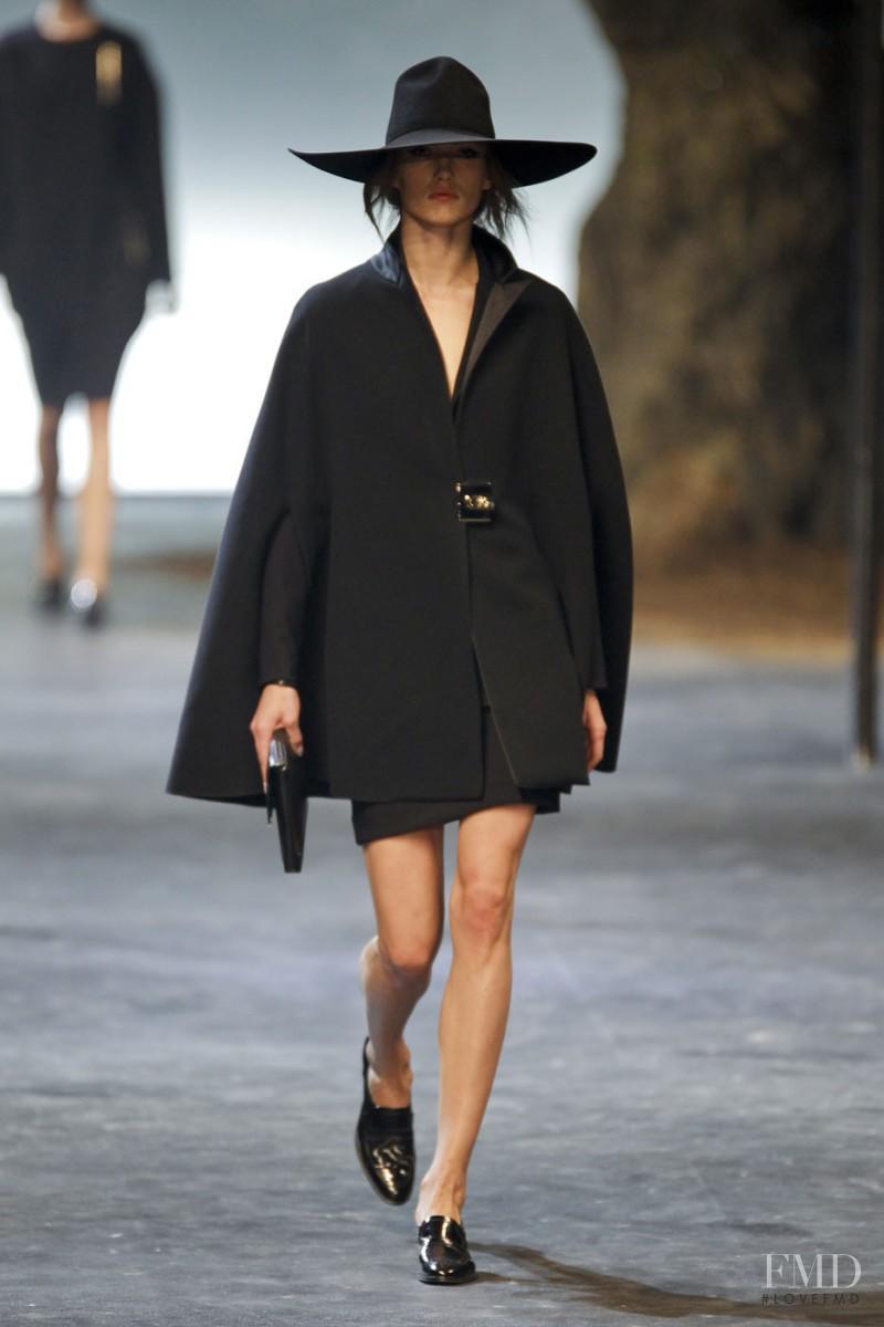 Karmen Pedaru featured in  the Lanvin fashion show for Autumn/Winter 2011