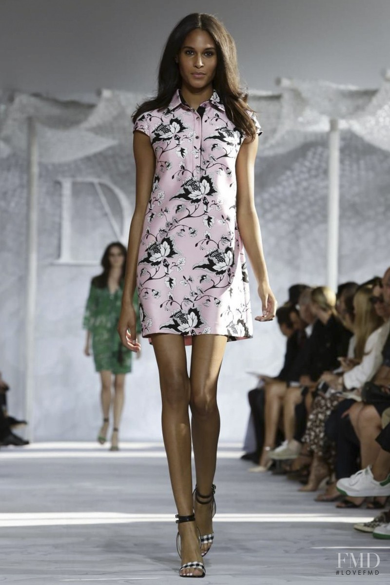 Cindy Bruna featured in  the Diane Von F�rstenberg fashion show for Spring/Summer 2015