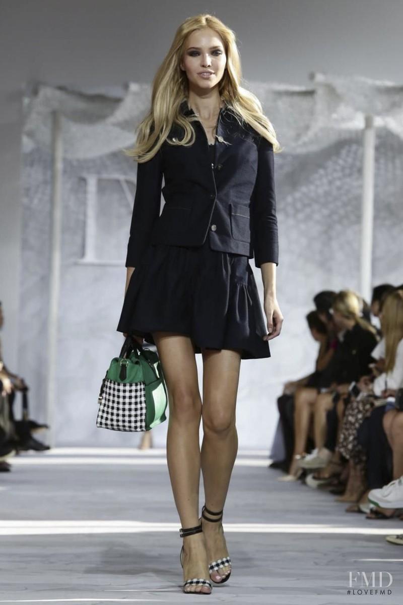 Sasha Luss featured in  the Diane Von F�rstenberg fashion show for Spring/Summer 2015