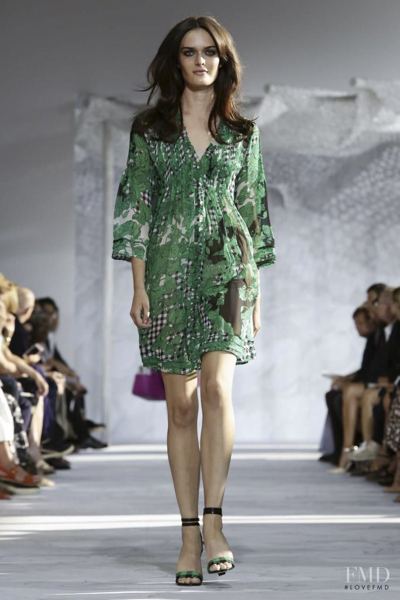 Sam Rollinson featured in  the Diane Von F�rstenberg fashion show for Spring/Summer 2015