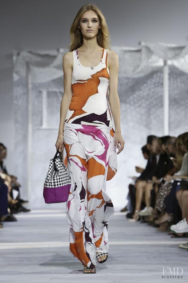 Manuela Frey featured in  the Diane Von F�rstenberg fashion show for Spring/Summer 2015