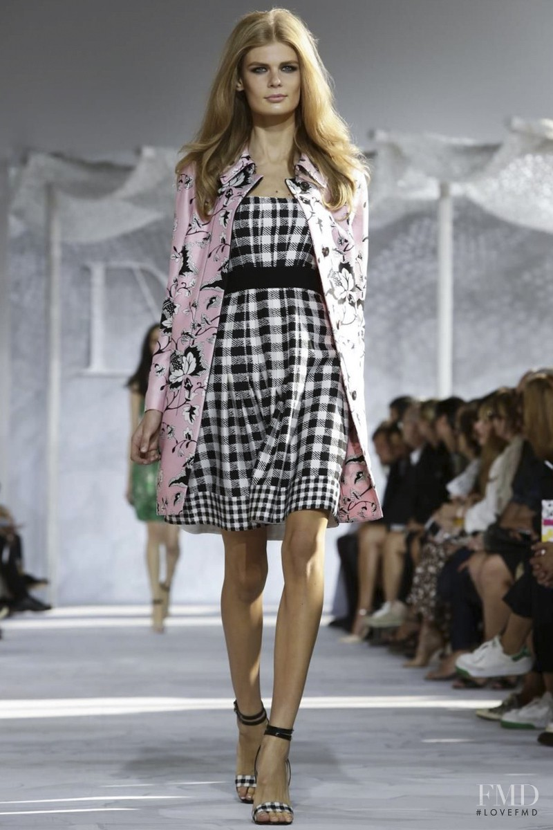 Alexandra Elizabeth Ljadov featured in  the Diane Von F�rstenberg fashion show for Spring/Summer 2015