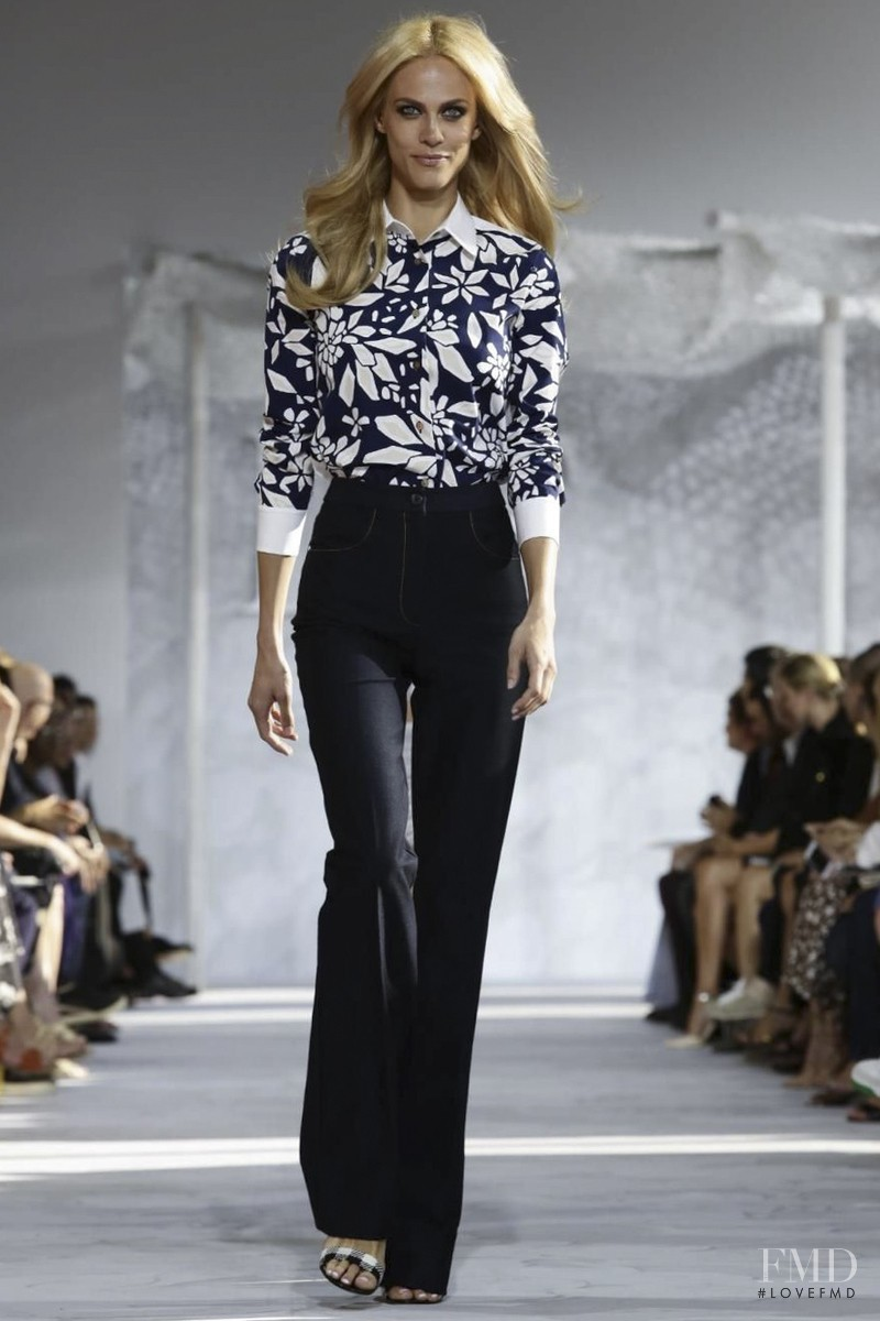 Aymeline Valade featured in  the Diane Von F�rstenberg fashion show for Spring/Summer 2015