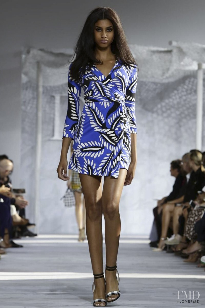 Imaan Hammam featured in  the Diane Von F�rstenberg fashion show for Spring/Summer 2015