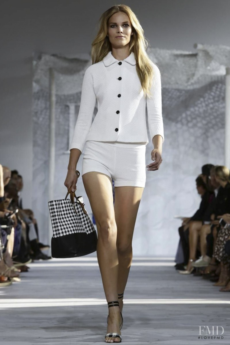 Suvi Koponen featured in  the Diane Von F�rstenberg fashion show for Spring/Summer 2015
