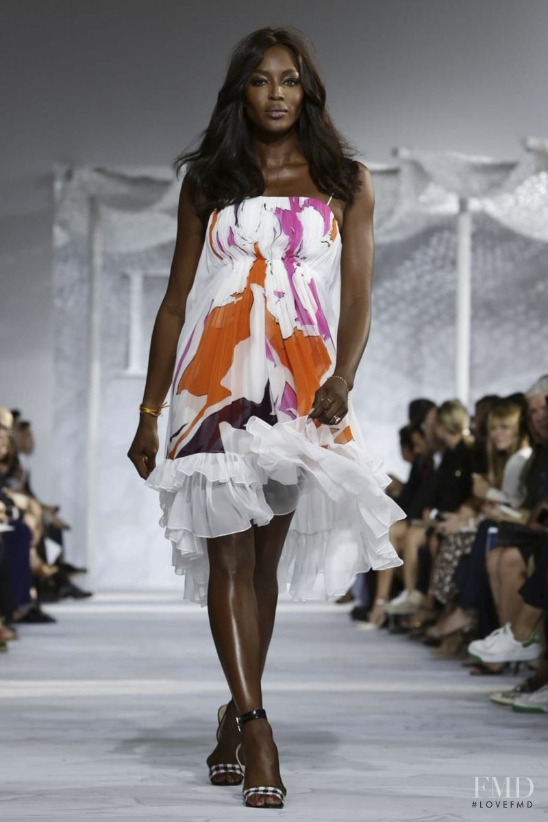 Naomi Campbell featured in  the Diane Von F�rstenberg fashion show for Spring/Summer 2015
