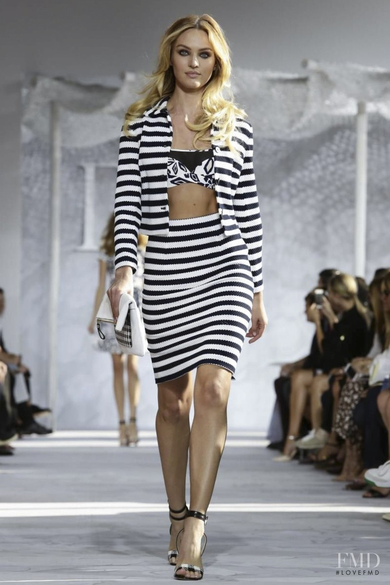 Candice Swanepoel featured in  the Diane Von F�rstenberg fashion show for Spring/Summer 2015
