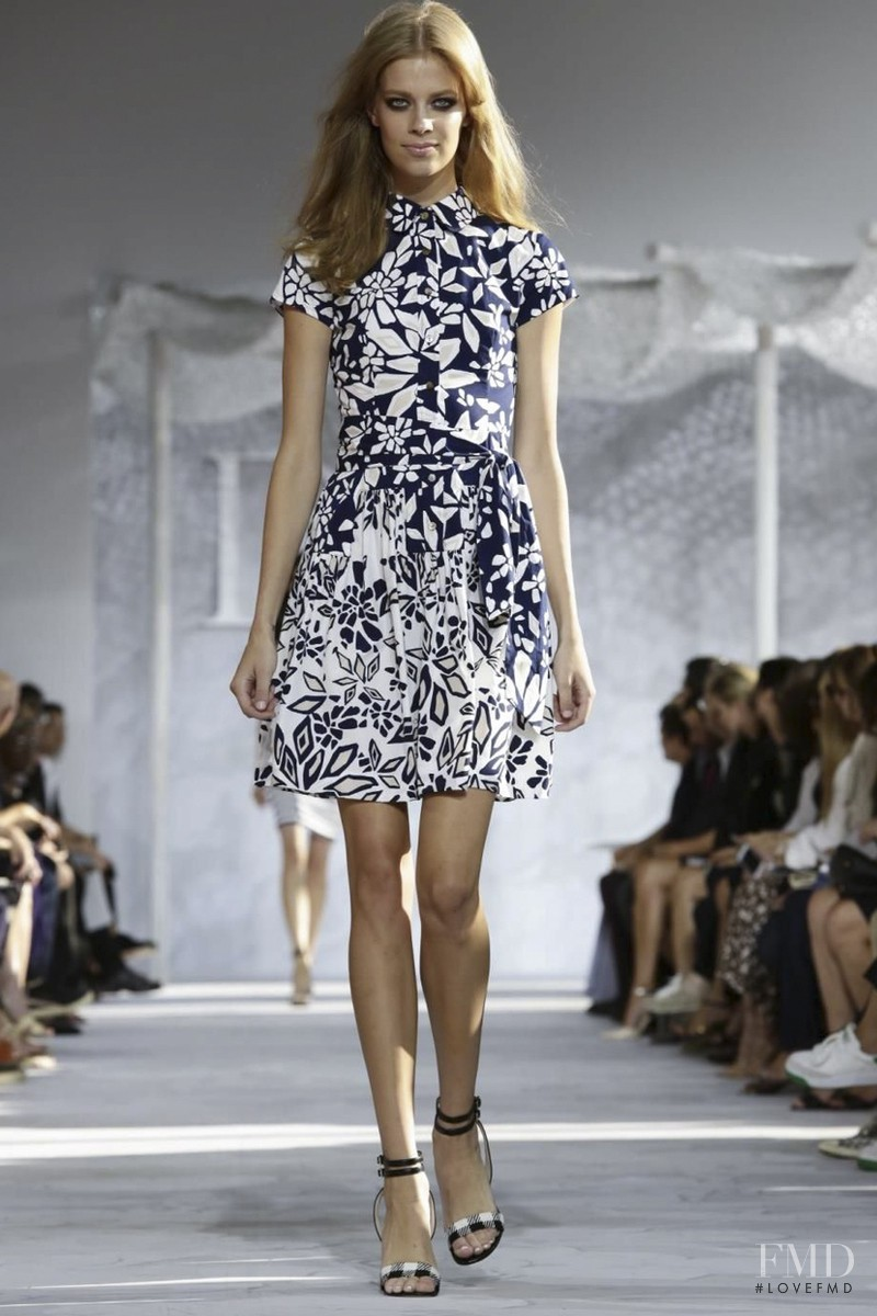 Lexi Boling featured in  the Diane Von F�rstenberg fashion show for Spring/Summer 2015