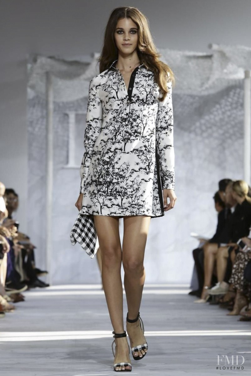 Pauline Hoarau featured in  the Diane Von F�rstenberg fashion show for Spring/Summer 2015