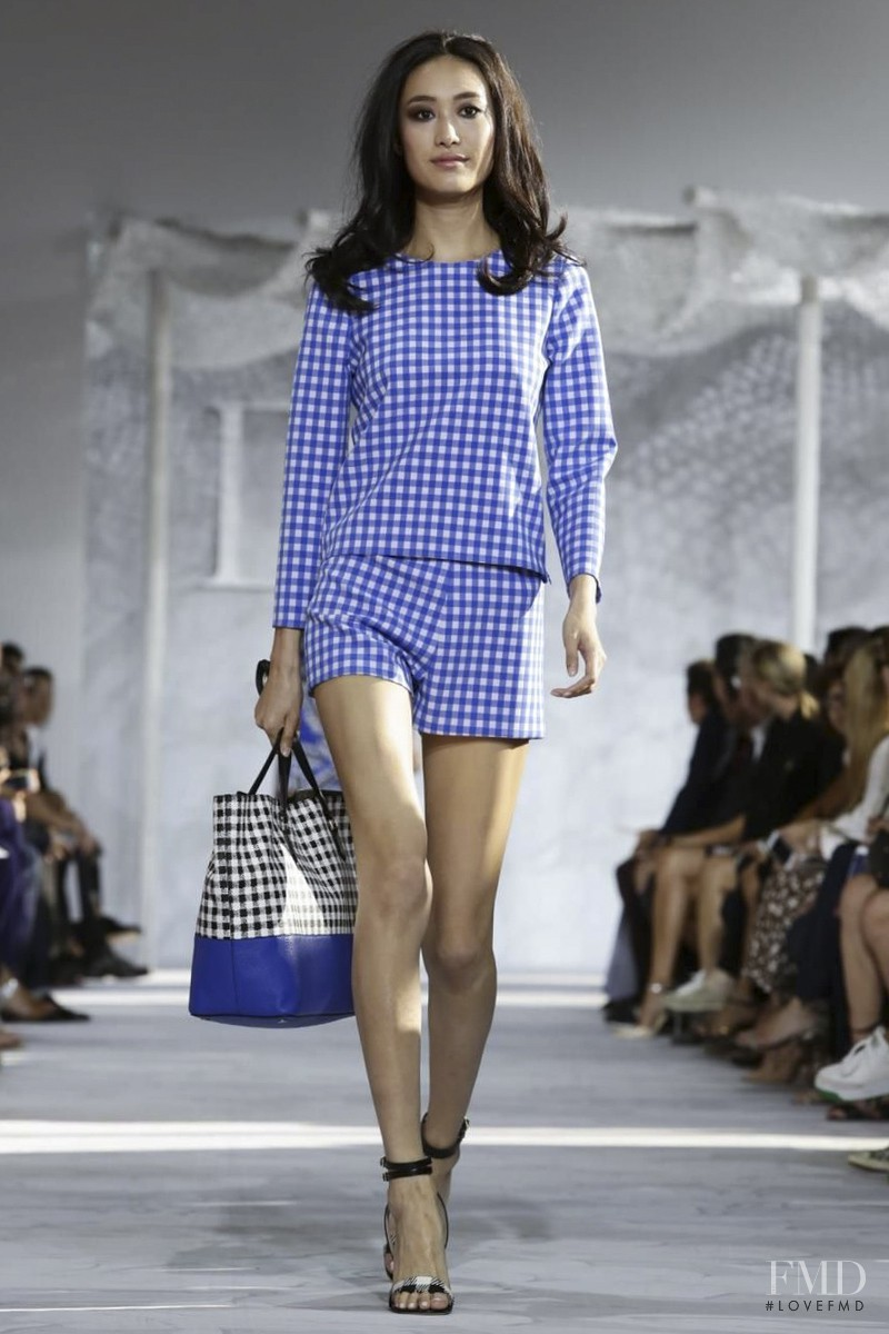 Shu Pei featured in  the Diane Von F�rstenberg fashion show for Spring/Summer 2015