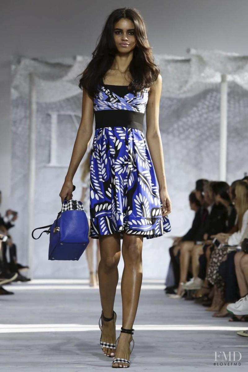 Mariana Santana featured in  the Diane Von F�rstenberg fashion show for Spring/Summer 2015