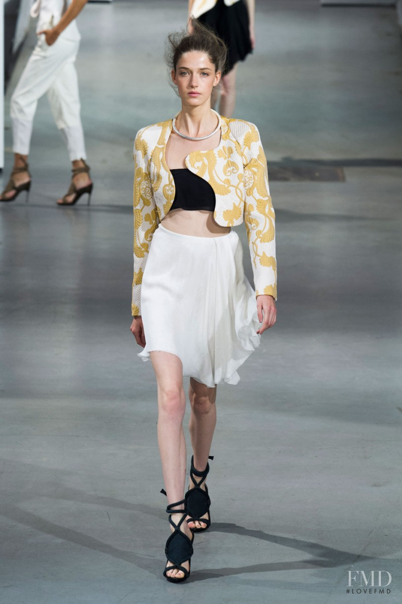 Josephine van Delden featured in  the 3.1 Phillip Lim fashion show for Spring/Summer 2015