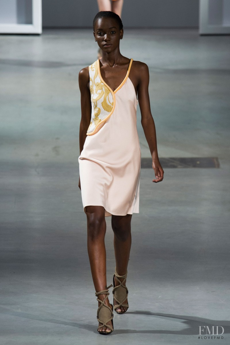 Herieth Paul featured in  the 3.1 Phillip Lim fashion show for Spring/Summer 2015