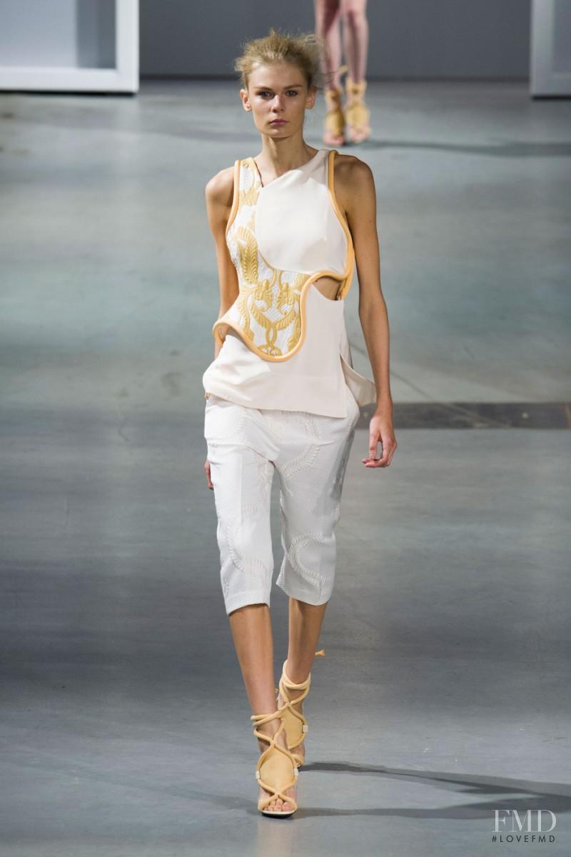 Alexandra Elizabeth Ljadov featured in  the 3.1 Phillip Lim fashion show for Spring/Summer 2015