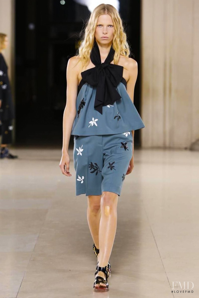 Lina Berg featured in  the Jonathan Saunders fashion show for Spring/Summer 2015