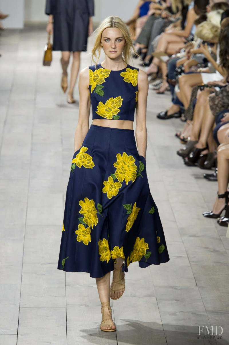 Caroline Trentini featured in  the Michael Kors Collection fashion show for Spring/Summer 2015