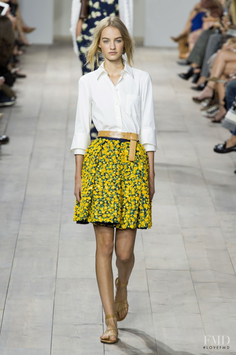 Maartje Verhoef featured in  the Michael Kors Collection fashion show for Spring/Summer 2015