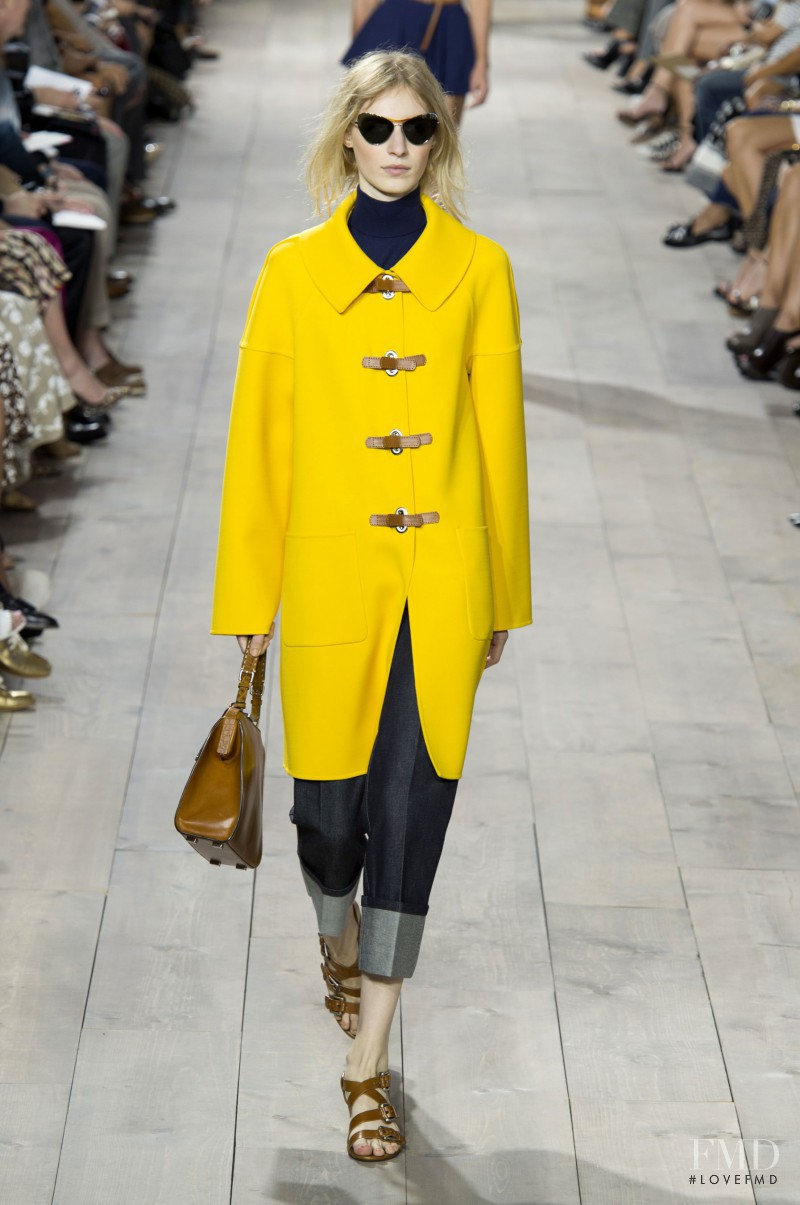 Julia Nobis featured in  the Michael Kors Collection fashion show for Spring/Summer 2015