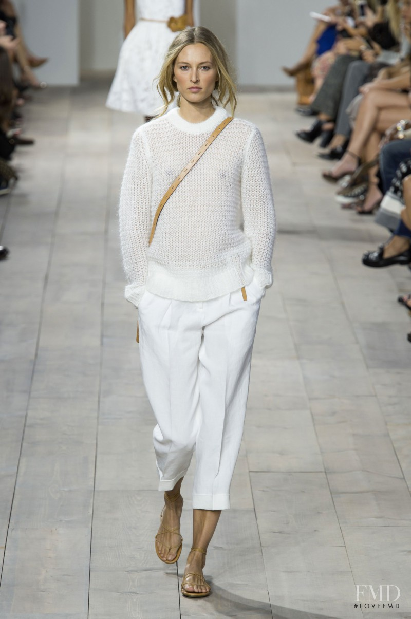 Liisa Winkler featured in  the Michael Kors Collection fashion show for Spring/Summer 2015