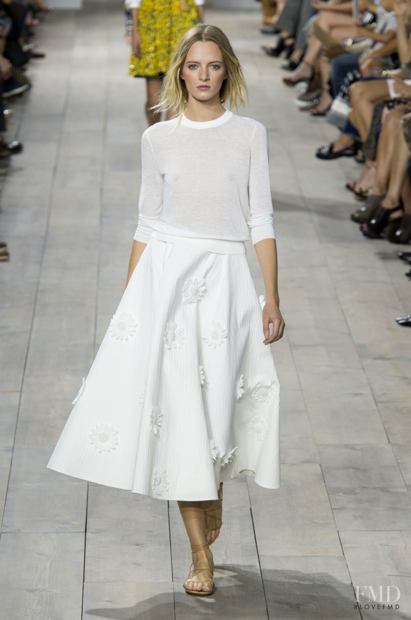 Daria Strokous featured in  the Michael Kors Collection fashion show for Spring/Summer 2015