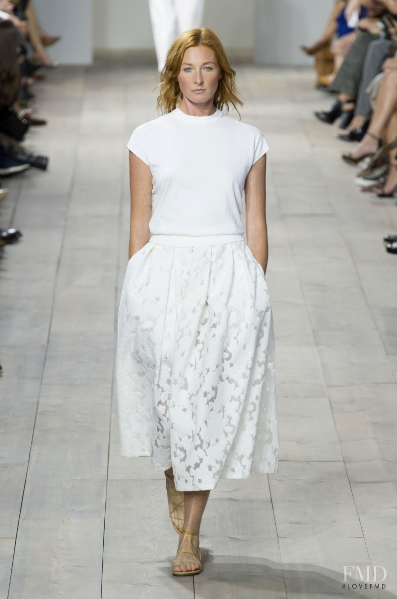 Maggie Rizer featured in  the Michael Kors Collection fashion show for Spring/Summer 2015