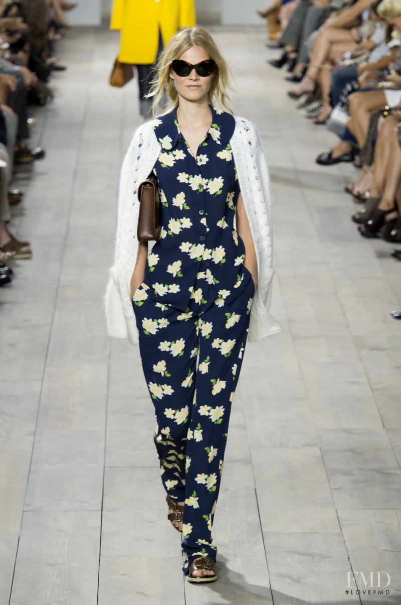 Suvi Koponen featured in  the Michael Kors Collection fashion show for Spring/Summer 2015