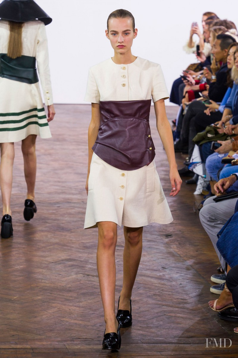 Maartje Verhoef featured in  the J.W. Anderson fashion show for Spring/Summer 2015
