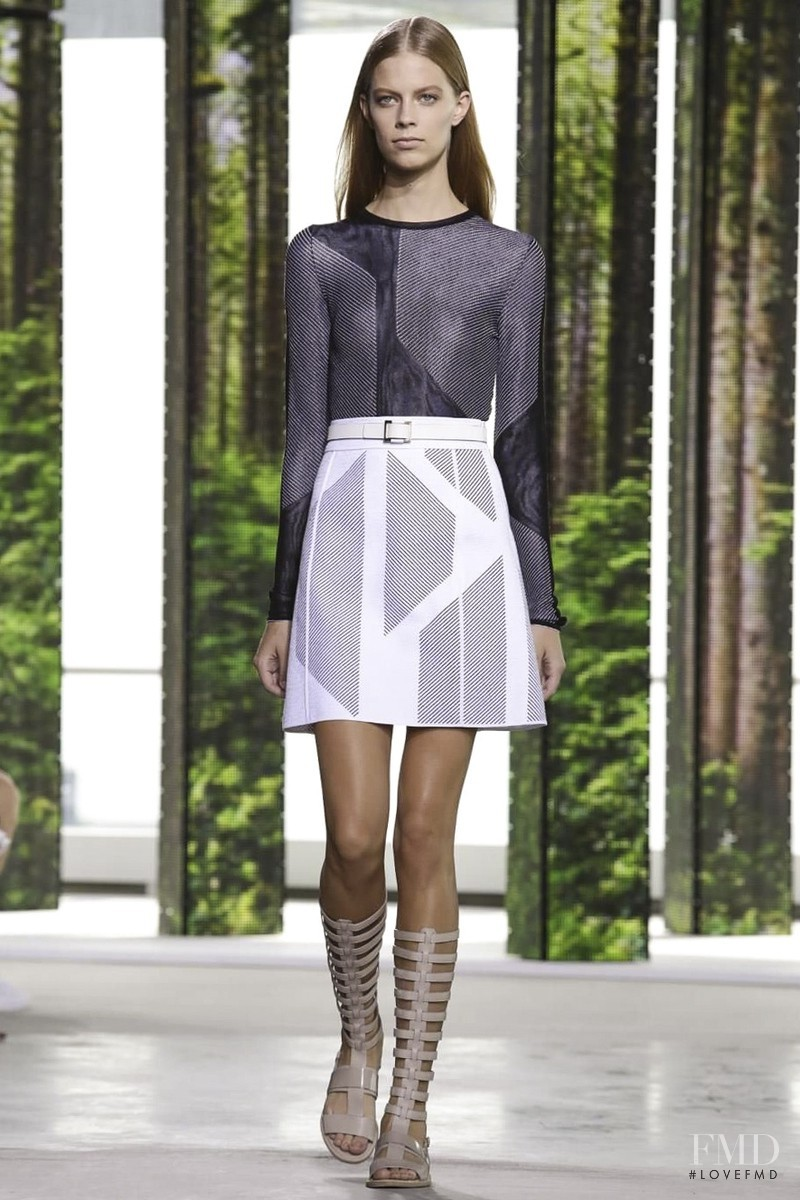 Lexi Boling featured in  the Hugo Boss fashion show for Spring/Summer 2015