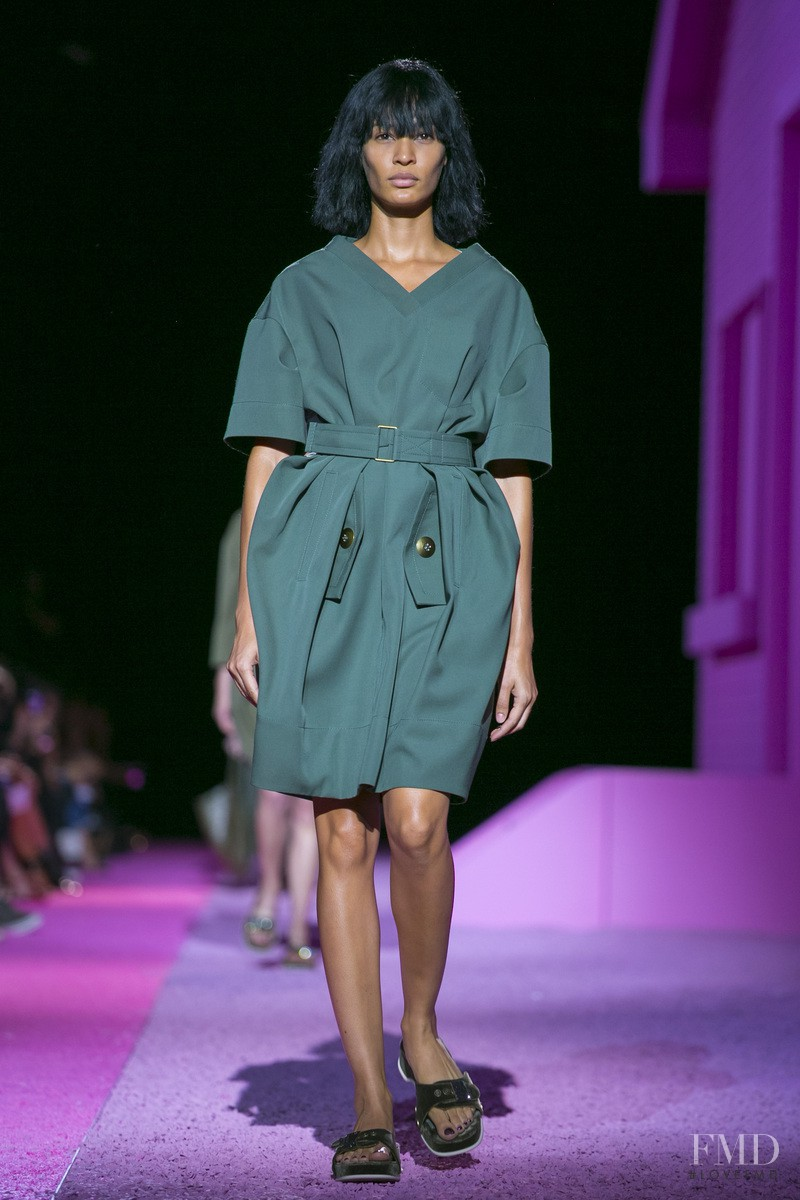 Joan Smalls featured in  the Marc Jacobs fashion show for Spring/Summer 2015