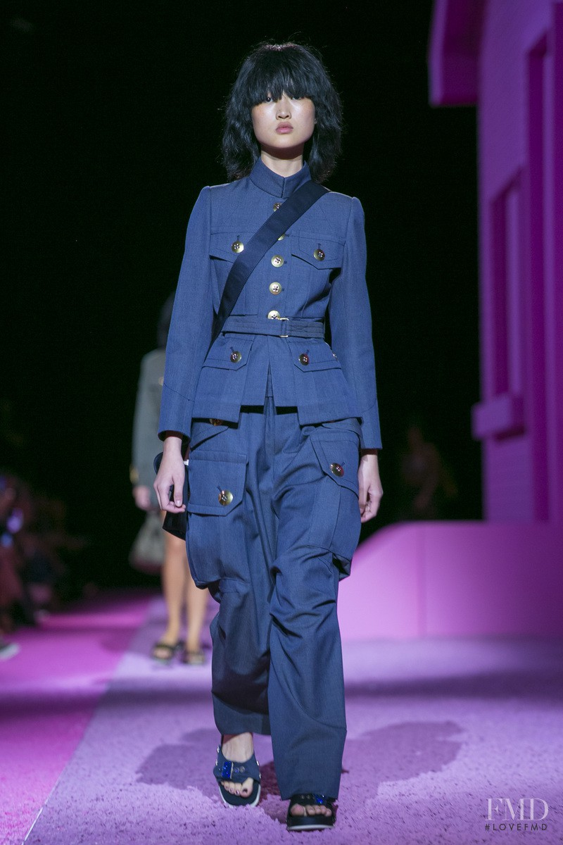 Jing  Wen featured in  the Marc Jacobs fashion show for Spring/Summer 2015