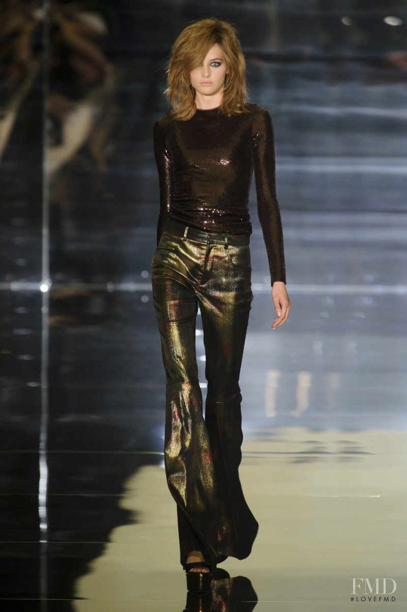Sanne Vloet featured in  the Tom Ford fashion show for Spring/Summer 2015