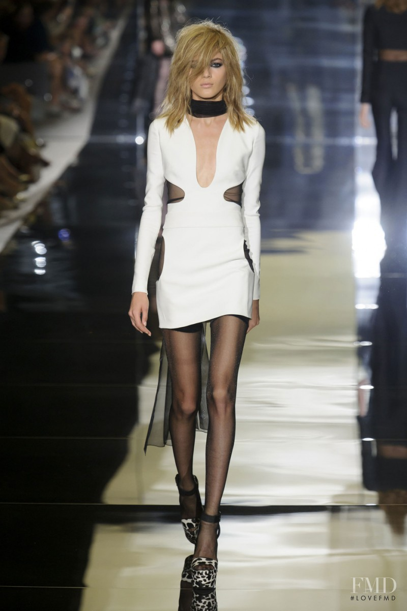 Valery Kaufman featured in  the Tom Ford fashion show for Spring/Summer 2015