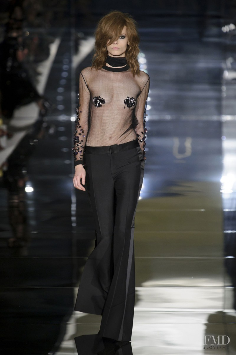 Mina Cvetkovic featured in  the Tom Ford fashion show for Spring/Summer 2015
