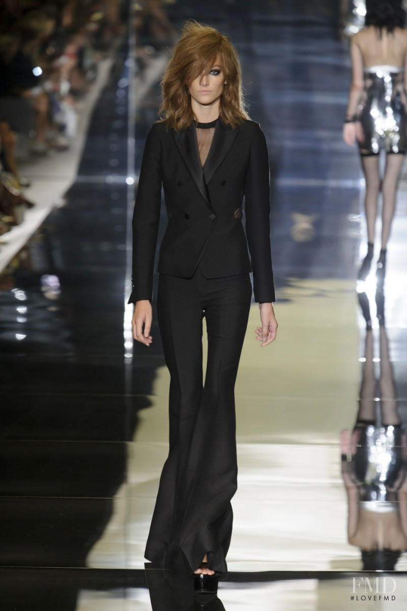 Joséphine Le Tutour featured in  the Tom Ford fashion show for Spring/Summer 2015