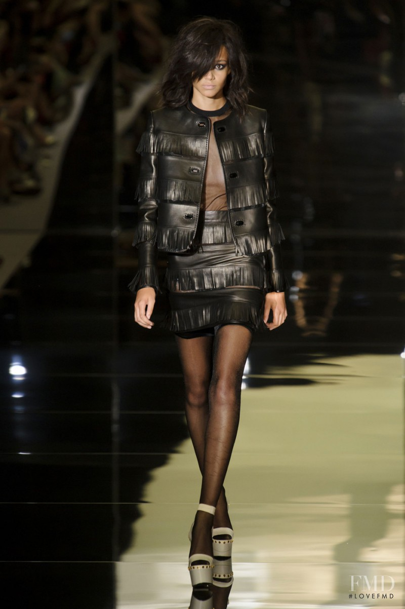 Binx Walton featured in  the Tom Ford fashion show for Spring/Summer 2015