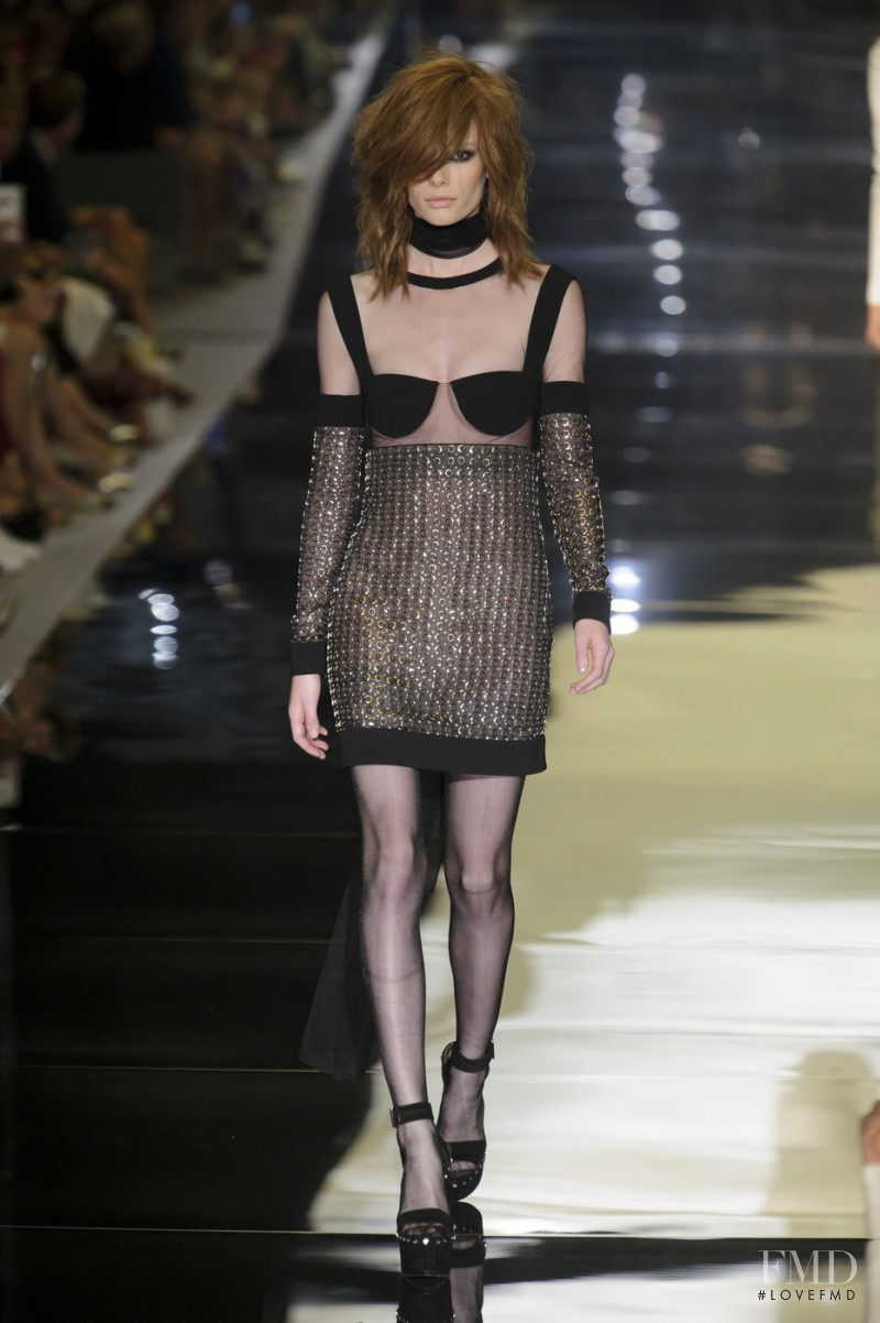 Julia Hafstrom featured in  the Tom Ford fashion show for Spring/Summer 2015