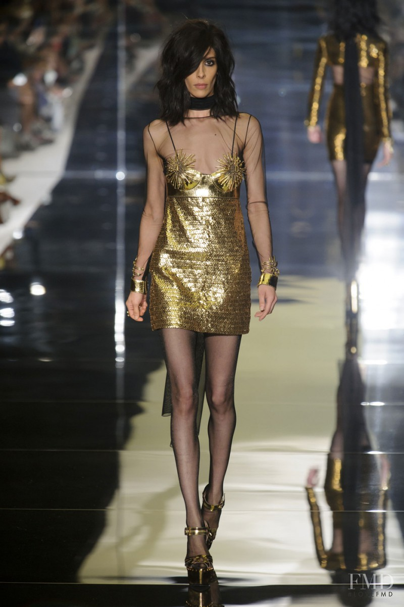 Jamie Bochert featured in  the Tom Ford fashion show for Spring/Summer 2015