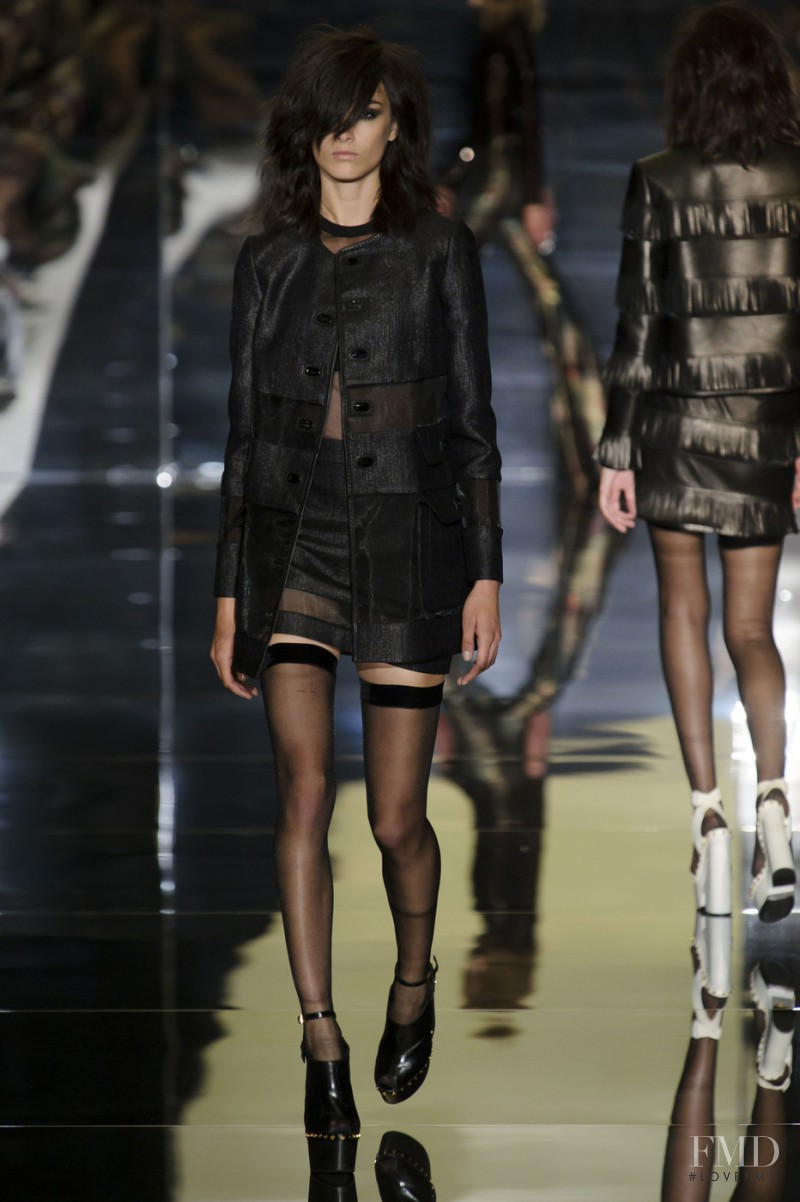 Ronja Furrer featured in  the Tom Ford fashion show for Spring/Summer 2015