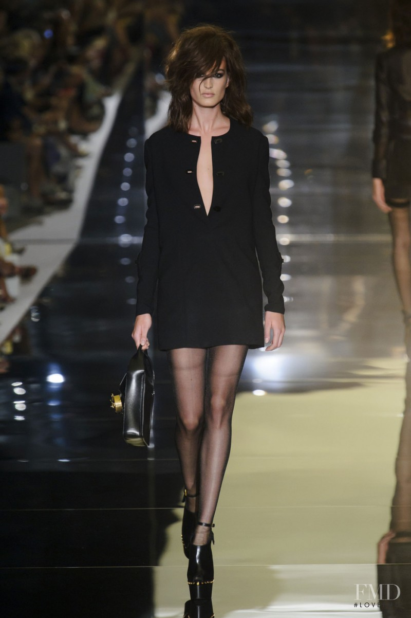 Elodia Prieto featured in  the Tom Ford fashion show for Spring/Summer 2015