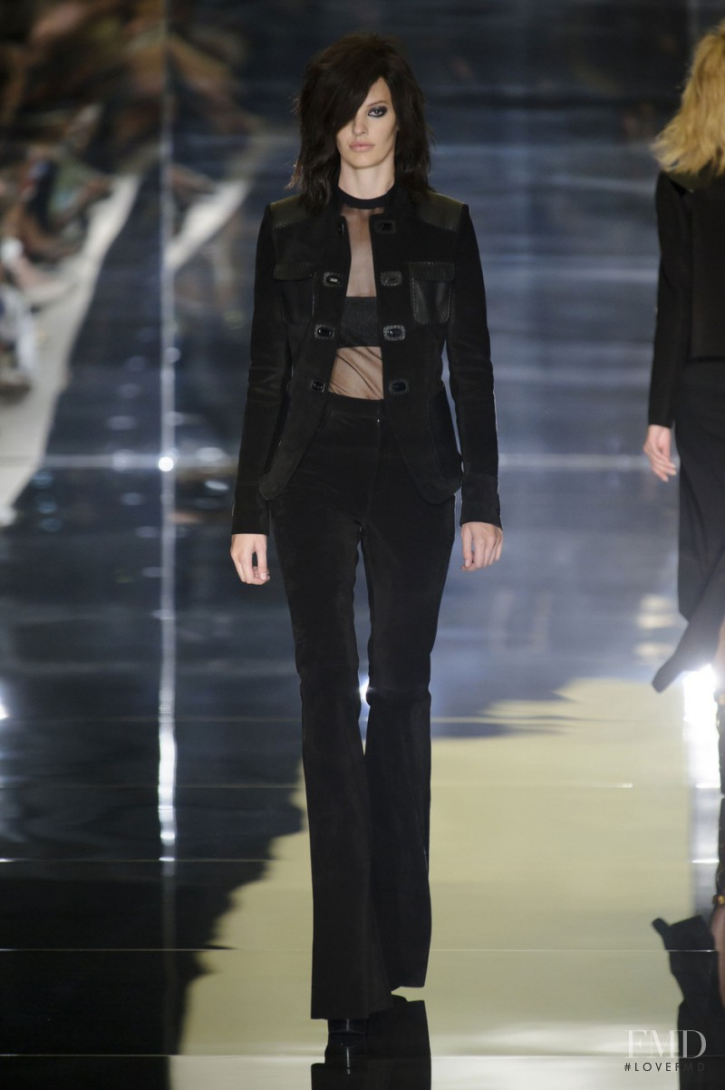 Amanda Murphy featured in  the Tom Ford fashion show for Spring/Summer 2015