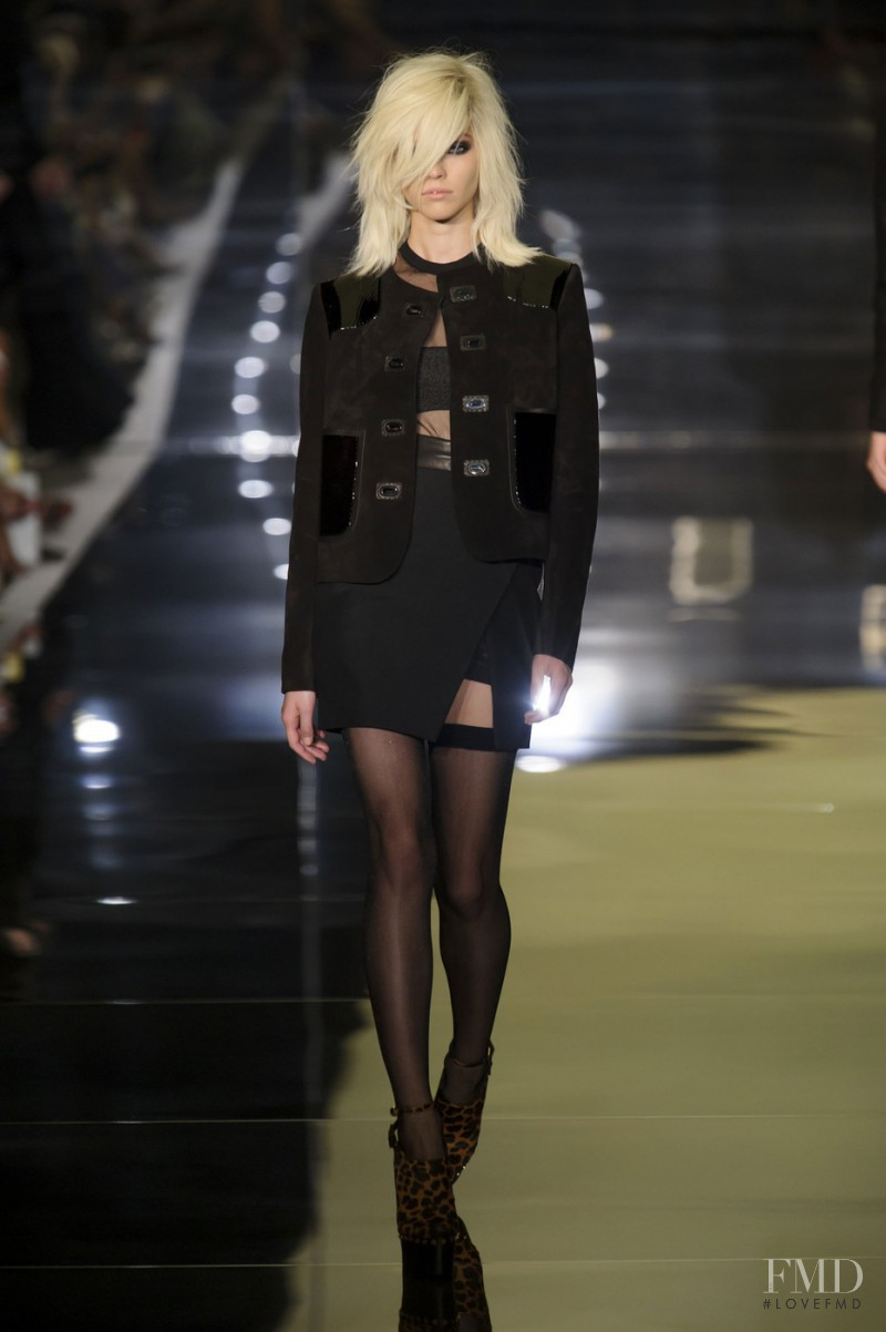 Sasha Luss featured in  the Tom Ford fashion show for Spring/Summer 2015