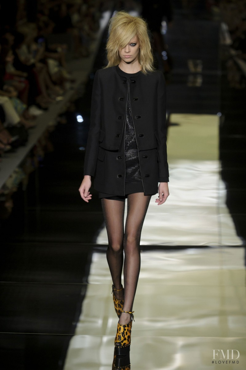 Lexi Boling featured in  the Tom Ford fashion show for Spring/Summer 2015