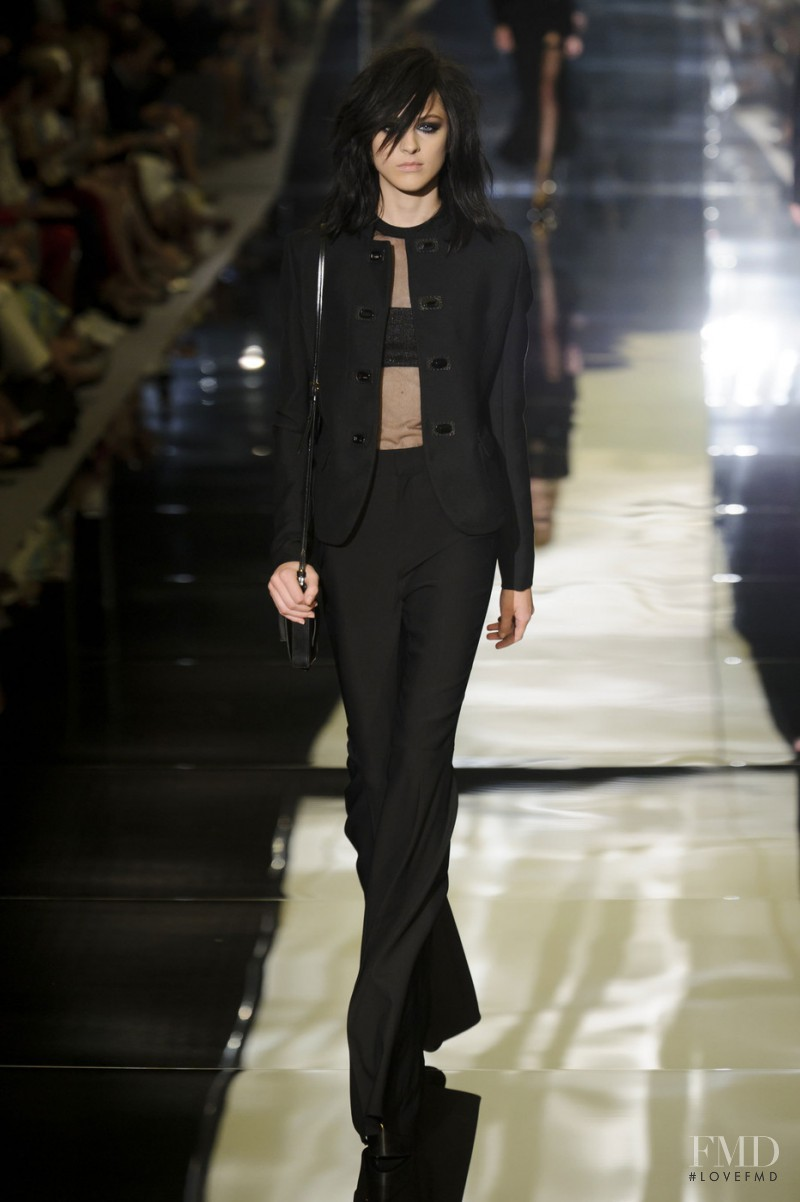 Lida Fox featured in  the Tom Ford fashion show for Spring/Summer 2015