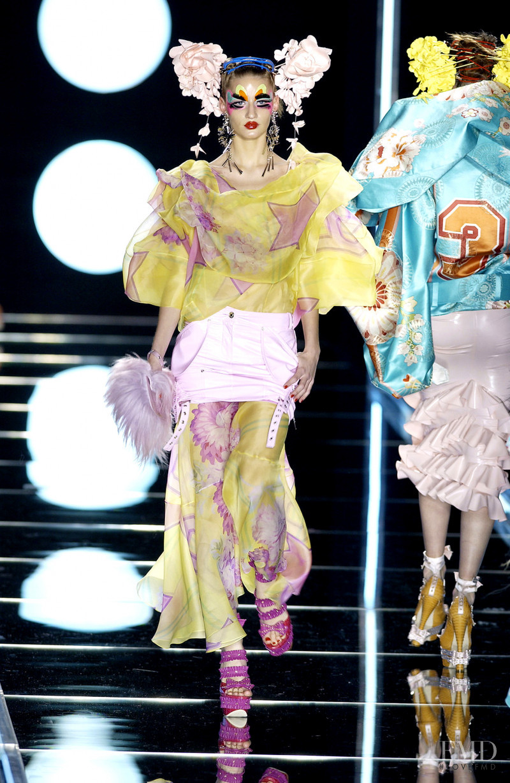 Linda Vojtova featured in  the Christian Dior fashion show for Autumn/Winter 2003